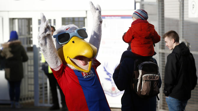 Crystal Palace mascot before the game
