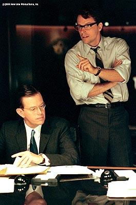 Dylan Baker (Robert McNamara) and Steven Culp (Robert F. Kennedy) in New Line's Thirteen Days