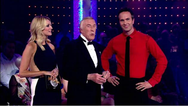 Michael Vaughan appear with Bruce Forsyth and Tess Daly on ' Strictly Come Dancing ' Shown on BBC1 HD  England - 15.09.12 Supplied by WENN.com  WENN does not claim any ownership including but not limi