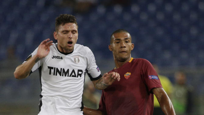 Roma's Juan in action