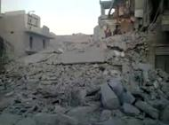 A YouTube clip said to show damage in Aleppo's Maadi district after an air raid. The Syrian air force on Friday for the first time attacked the Assal al-Ward area in the Kalamun region, killing one civilian, wounding dozens and destroying several homes, says a watchdog