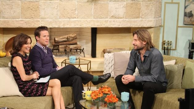 Kit Hoover and Billy Bush interview Nikolaj Coster-Waldau on Access Hollywood Live, Burbank, Jan. 17, 2013 -- Access Hollywood