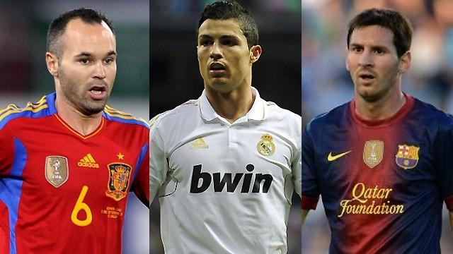 Liga - Iniesta, Ronaldo and Messi on Ballon d'Or shortlist