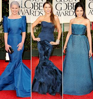 The Hottest Color at the 2012 Golden Globes: Teal!