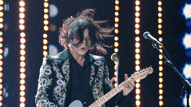 Jack White performs at the 55th annual Grammy Awards on Sunday, Feb. 10, 2013, in Los Angeles. (Photo by John Shearer/Invision/AP)