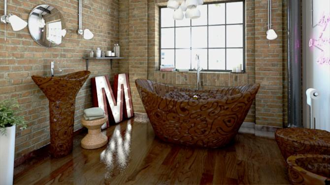 Completely Chocolate Bathroom Can Be Yours for Just $133,000 (and 9.4 Million Calories)