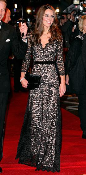 Middleton in Alice Temperley at the London premiere of War Horse, January 2011