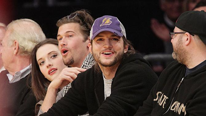 Ashton Kutcher Lakers Game