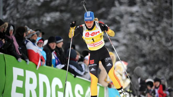 Germany's Magdalena Neuner Competes AFP/Getty Images