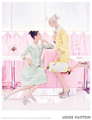 Louis Vuitton's Super Sweet Spring 2012 Ad Campaign Starring Daria Strokous, Kati Nescher and Ice Cream Sundaes
