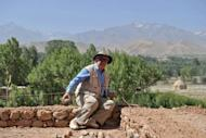 Afghan-born French archaeologist Zemaryalai Tarzi works at an archaeological site in Bamiyan. Hadda in the east was home to thousands of Greco-Buddhist sculptures dating from the 1st century BC to 1st century AD, but it was devastated in the 1990s civil war