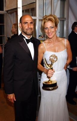 """Stanley Tucci and Edie Falco Outstanding Lead Actress in a Drama """"The Sopranos"""" 55th Annual Emmy Awards - 9/21/2003"""