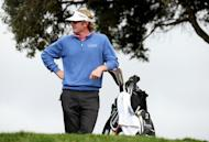 Brandt Snedeker waits to hit his tee shot on the third hole during the final round of the Farmers Insurance Open at Torrey Pines on January 27, 2013. Americans Snedeker, the 2012 winner, and Josh Teater shared second