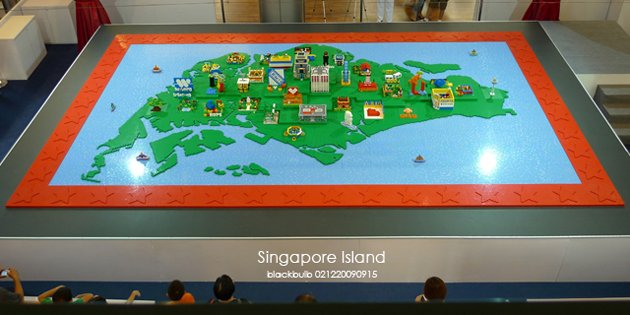 His biggest creation to date -- a three-dimensional version of the Singapore map, made from 250,000 Lego bricks. (Photo from Blackbulb Creations)