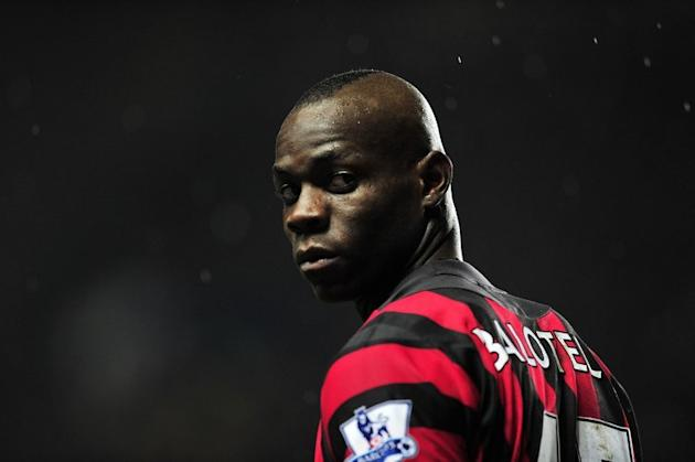 Manchester City's Italian striker Mario Balotelli at Stamford Bridge in London, on December 12, 2011. Balotelli's future at City is in doubt once again after an apparent training-ground bust-up with manager Roberto Mancini