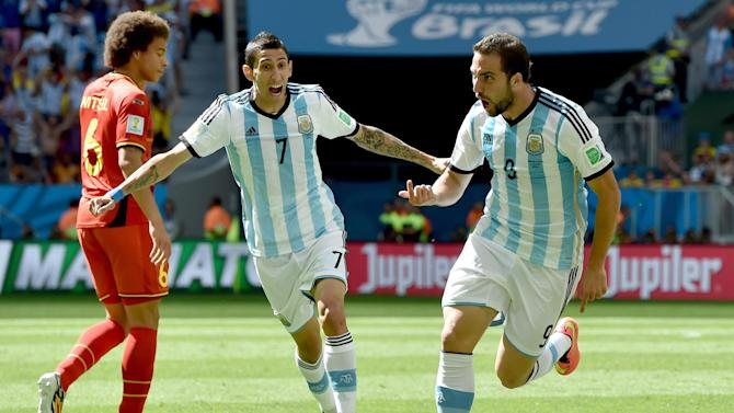 World Cup - Higuain ends drought to fire Argentina into semis