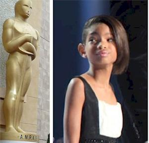 Hollywood trophies Oscar and Willow