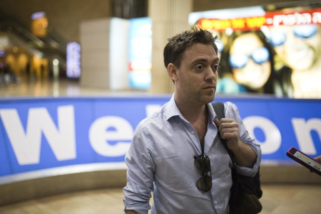 Damian Pachter a su llegada a Israel (Reuters)