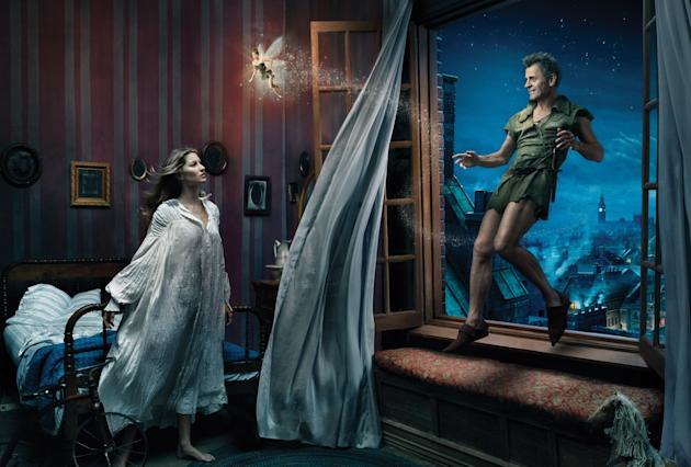 Disney Dreams: Mikhail Baryshnikov as Peter Pan and Gisele Bundchen as Wendy