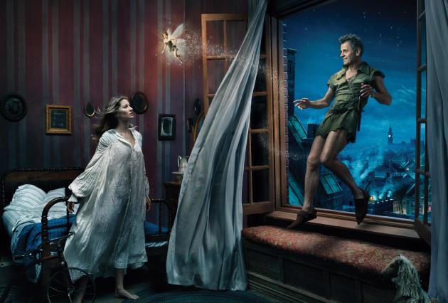 Disney Dreams: Mikhail Baryshnikov as Peter Pan and Gisele Bundchen as Wendy
