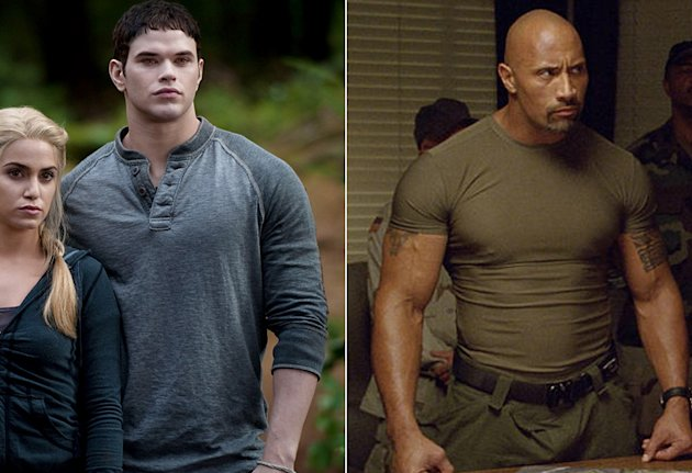Kellan Lutz in Twilight and Dwayne 'The Rock' Johnson in G.I. Joe