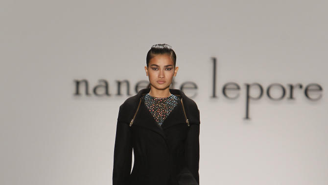 The Nanette Lepore Fall 2013 collection is modeled during Fashion Week, Wednesday, Feb. 13, 2013 in New York. (AP Photo/Jason DeCrow)