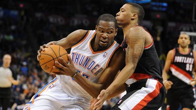 Basketball - Durant scores 46 as Thunder down Blazers