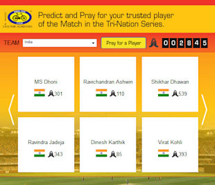Cycle Pure Agarbathies Launches 'Predict And Win' For Tri Series 2013 image Cycle agarbathies predict and pray FB app