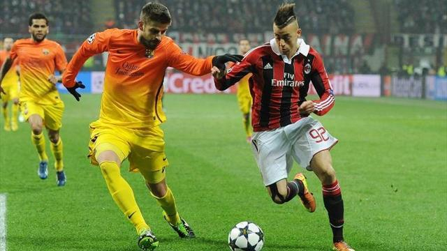 Champions League - Pique confident cool heads will guide Barca past Milan