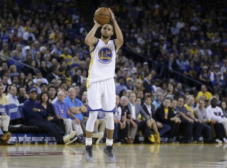 It's usually a problem when Stephen Curry is this open. (Associated Press)