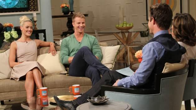 Peta Murgatroyd and Sean Lowe on Access Hollywood Live on April 11, 2013 -- Access Hollywood