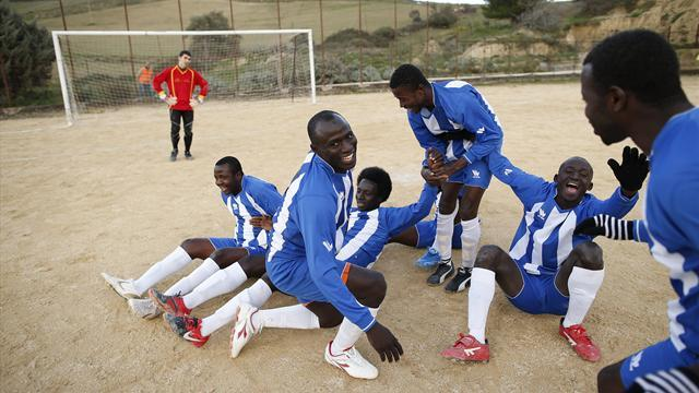 Serie A - African asylum seekers in Sicily dream of football glory