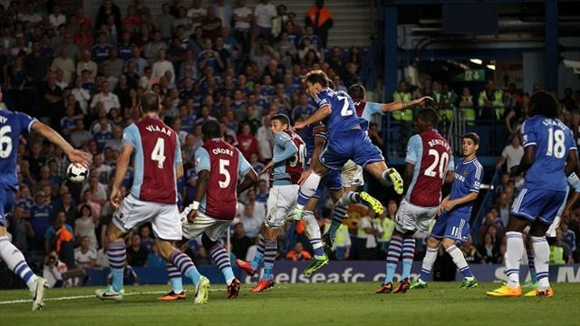 Premier League - Ivanovic nets Chelsea winner as referee decisions cost Villa