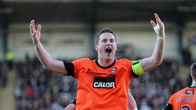 Dundee disputed the penalty which was converted by Dundee United's Jon Daly