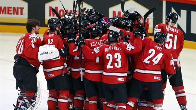 Ice Hockey - Swiss claim Canada's scalp as Russia march on