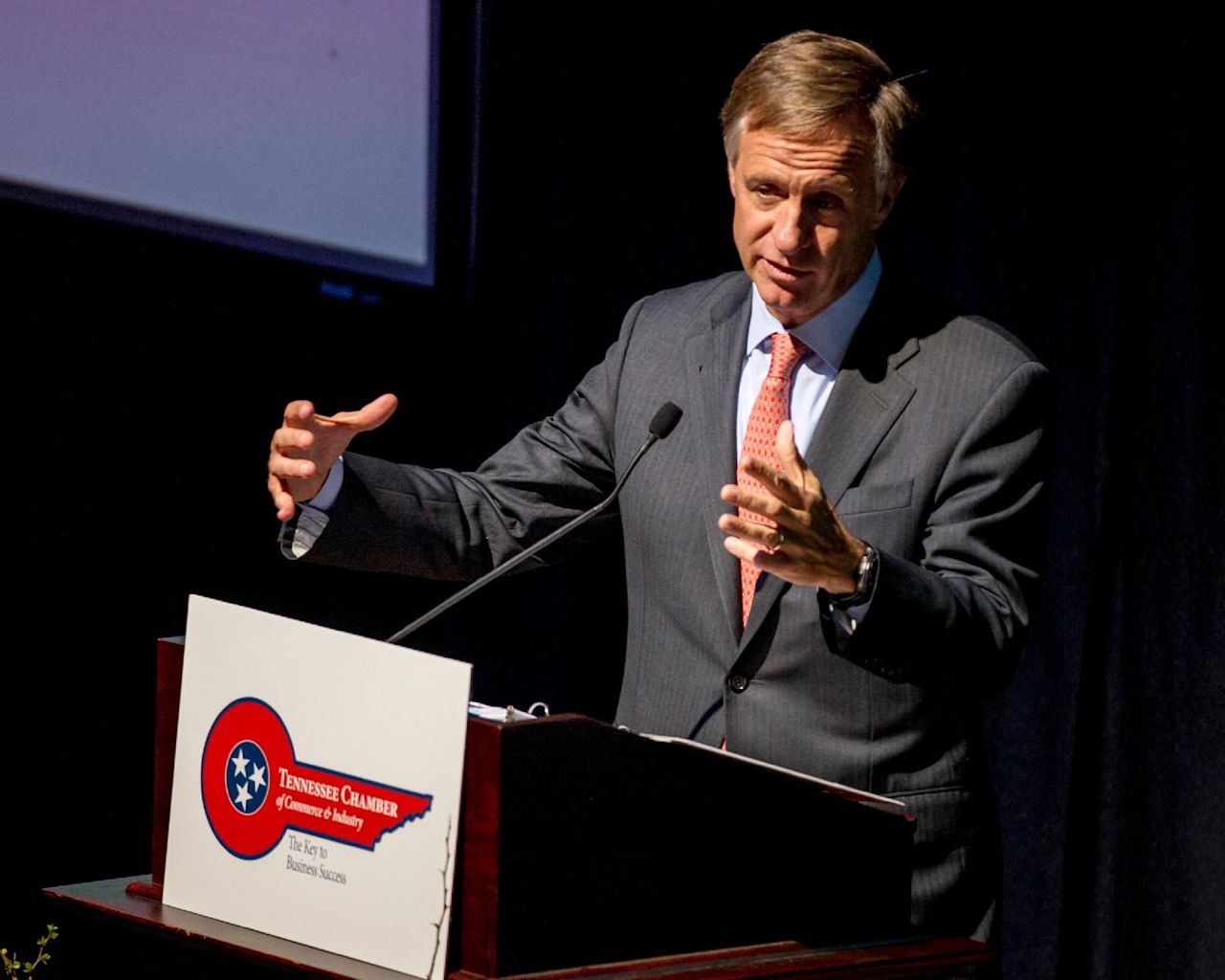 FILE - In this March 25, 2014, file photo, Tennessee Gov. Bill Haslam ...