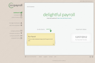 ZenPayroll Review – Peace Of Mind For Payroll Processing And Taxes image zenpayroll dashboard screenshot 42fd491636a33d7b68cde922937de559 1024x679