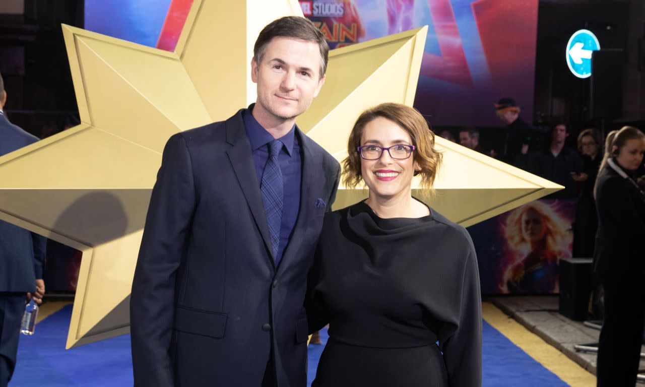 <p>瑞安佛瑞克、安娜波頓這對導演搭檔於英國時間2019年2月27日出席了在英國倫敦舉辦的《驚奇隊長》首映。(圖/StillMoving.net for Disney) </p>