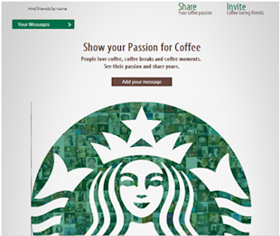 Social Media Strategy Review: Restaurants and Cafes image Starbucks passion for coffee app