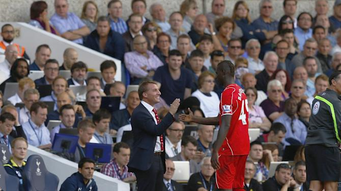 Premier League - Rodgers lauds Sterling, Balotelli after Liverpool win