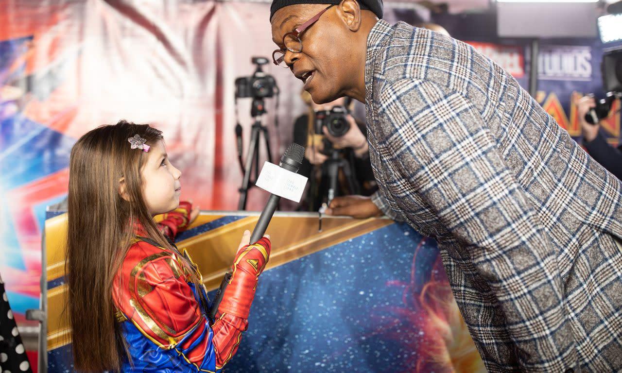 <p>山繆傑克森於英國時間2019年2月27日出席了在英國倫敦舉辦的《驚奇隊長》首映。(圖/StillMoving.net for Disney) </p>
