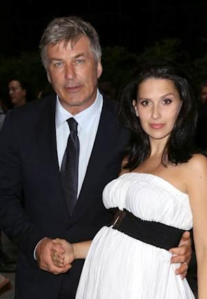 Alec Baldwin and Hilaria Baldwin attend 'The Unavoidable Disappearance Of Tom Durnin' Opening Night at Laura Pels Theatre on June 27, 2013 in New York City -- Getty Premium