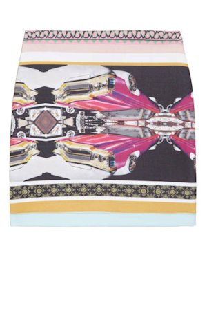Clover Canyon Printed Neoprene Skirt