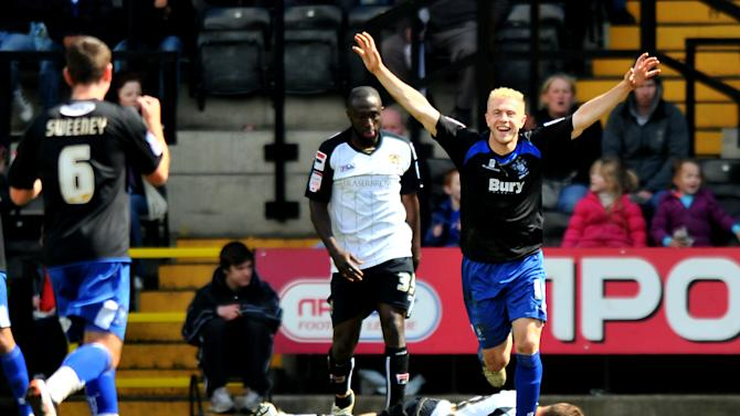 Mike Grella (right) spent time on loan at Bury last season