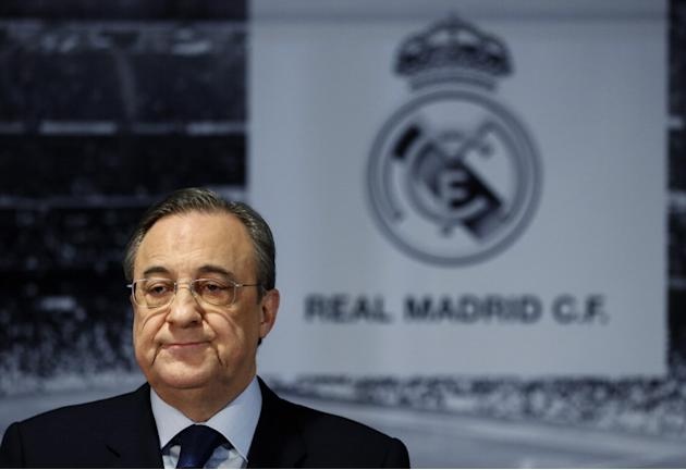 Florentino Perez refuses to say if Real Madrid will make future bid for Manchester United's David De Gea