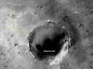 After a three-year drive, the Mars Exploration Rover Opportunity reached the Endeavour crater, a 14 mile crater formed by bombardment early in the life of the solar system.