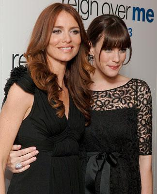 Saffron Burrows and Liv Tyler at the New York premiere of Sony Pictures' Reign Over Me
