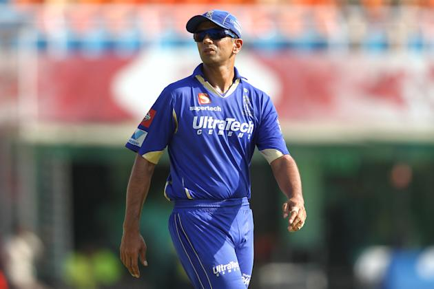 Rajasthan Royals captain Rahul Dravid during match 55 of of the Pepsi Indian Premier League between The Kings XI Punjab and the Rajasthan Royals held at the PCA Stadium, Mohali, India on the 9th May 2