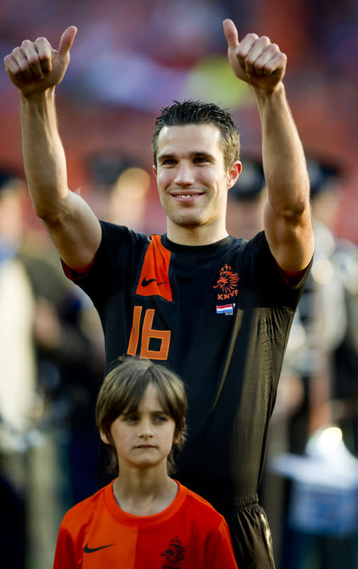Netherlands' Robin Van Persie Gestures  AFP/Getty Images