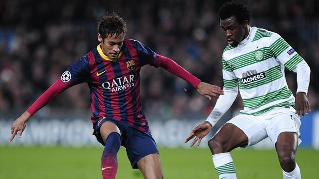 Champions League - Neymar hits three as Barcelona thump Celtic
